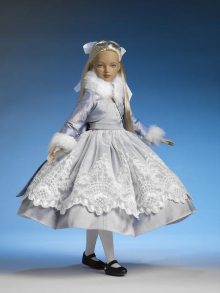 Wonderland Alice doll with rooted hair (no bangs) pulled back with white