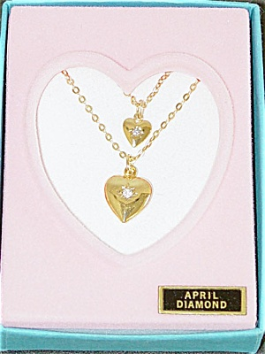 VOG0734B Vogue Ginny Doll and Girl April Diamond Necklaces 1993