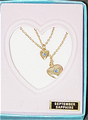 VOG0739B Vogue Ginny Doll and Girl September Sapphire Necklaces 1993