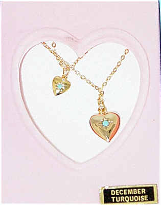 VOG0741B Vogue Ginny Doll and Girl December Turquoise Necklaces 1993