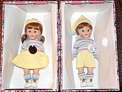 VOG2058AB Vogue 2003 Ginny Binky, Bunky Vintage Repro Dolls in Yellow