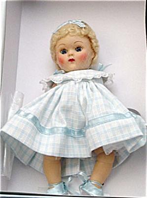 VOG2197 Vogue Blue Dimity Crib Crowd Vintage Repro Ginny Doll 2004