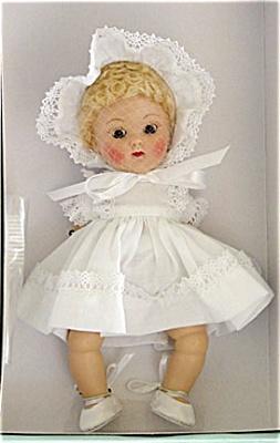 0VOG2198 Vogue Crib Crowd Baby Love White Ginny Vintage Repro Doll 2004