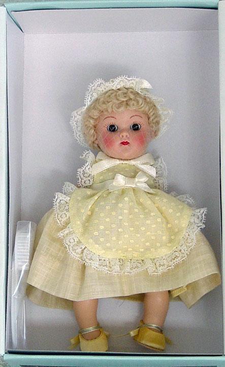 VOG2232 Vogue Crib Crowd Yellow Dimity Vintage Repro Ginny Doll 2005
