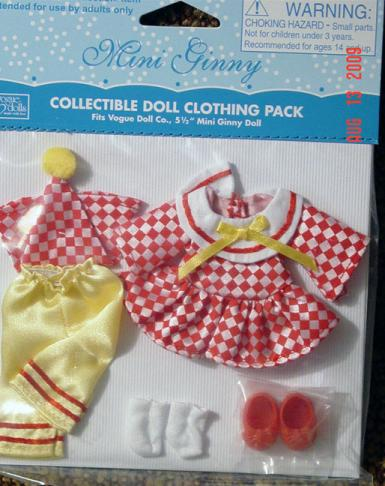 VOG2625 Vogue Mini Ginny Doll Pierrot Outfit Only 2009