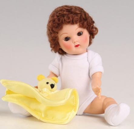 VOG2722 Vogue Brunette Curls Crib Crowd Vintage Repro Ginny Doll