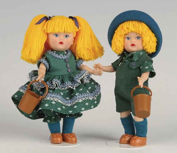 VOG2508AB Vogue Mini Ginny Jack and Jill Dolls 2008