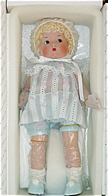 VOG1902A Vogue Just Me  Small Blonde Bisque Doll in Blue 2002