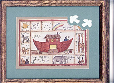 MSC0007 Noah's Ark Drawing in Frame with Glass