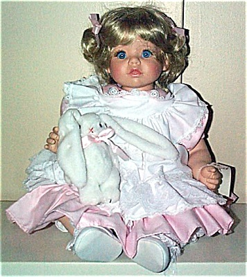 SWN0002 Susan Wakeen Cindy Baby Doll with Bunny 1994