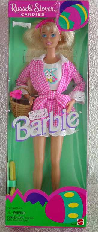 MAT0299A Russell Stover Candies Barbie Doll in Shorts Easter 1995