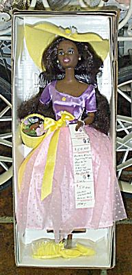 MAT0300A Avon Spring Blossom African-American Barbie Doll 1995