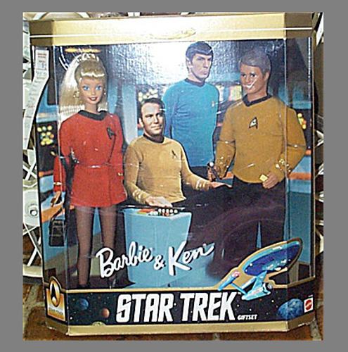 MAT0301 1996 Mattel Star Trek Barbie and Ken Doll Set NRFB