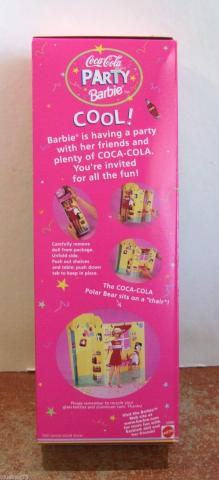 MAT0016 1998 Mattel Coca Cola Party Barbie Doll 1