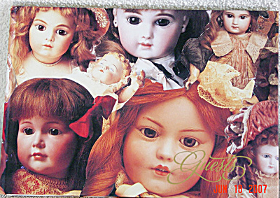 DMS0012 Doll Guest Book, Antique Doll Pictures on Cover