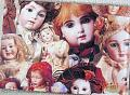 DMS0012 Doll Guest Book, Antique Doll Pictures on Cover 1