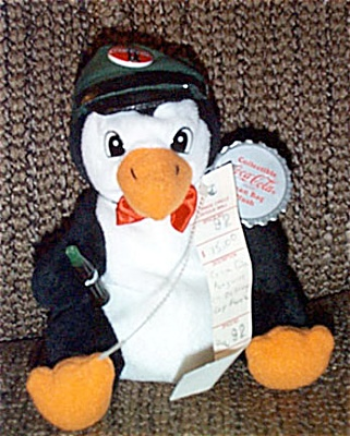 CCB0005 Coca Cola Delivery Penguin Advertising Bean Bag 1997