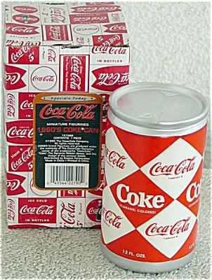 CCE0001 Enesco Ceramic Coca Cola Can Figurine 1993-1994