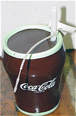 CCE0003 Enesco Coca Cola Glass Ceramic Figurine 1993-1994
