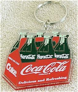 CCE0013A Enesco Coca Cola Six-Pack Bottles Key Holder