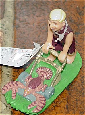 DFS0012 Dakin Barney Flintstones PVC Figure with Mower, 1994
