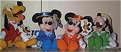 DMB0010A Set of 4 Disney Mousketoys Quartet Plush Bean Bags 1999-2000