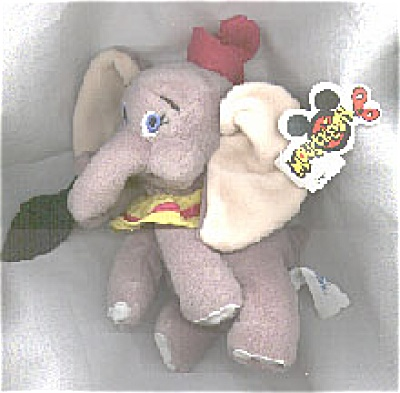 DMB0032A Disneyland Dumbo with Feather Bean Bag c.1997-98