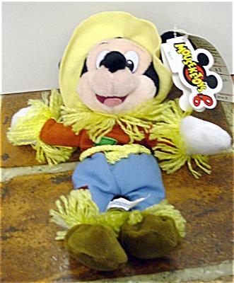 DMB0037D Disney Scarecrow Mickey Mouse Bean Bag c. 1997-98