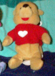 DMB0063A Disney Valentine Pooh Bean Bag with a Red Sweater