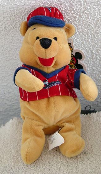 DMB0052B Baseball Pooh Disney Bean Bag Plush c. 1999