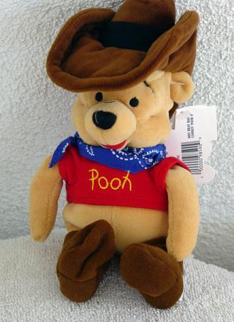 DMB0052F Disney Mousketoys Cowboy Pooh Mini-Bean Bag c. 1998-99