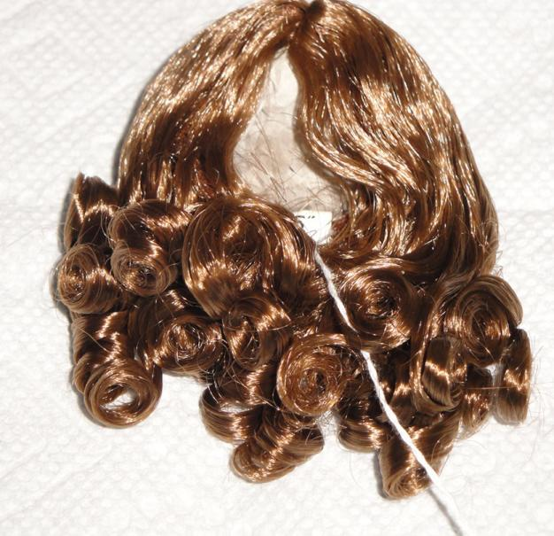 0DWG0001D Light Brown Curls Wig for 3.5-5 in. Heads 7-10 in. Dolls