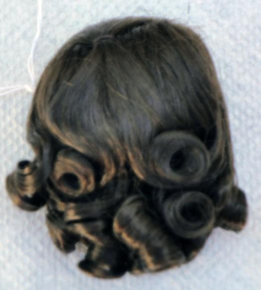 0DWG0002B Dark Brown Lindy Wig for 3.5-5 in, Doll Heads, 7-10 in. Dolls