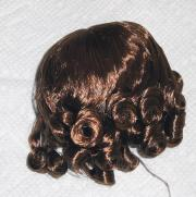 0DWG0001D Light Brown Curls Wig for 3.5-5 in. Heads 7-10 in. Dolls 1