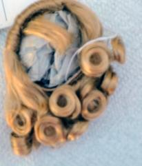 DWG0002C Honey Blonde Lindy Wig for 7-10 in. Dolls, 3.5-5 in. Heads 1