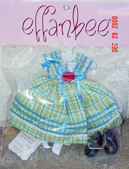 FBT0322 Effanbee Sunday Square Dance Petite Filles Doll Outfit 2008