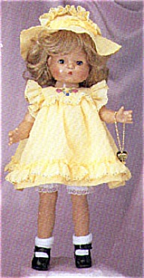 EFF0300 Effanbee 1996 Patsy Joan with Dark Blonde Wig in Yellow Dress
