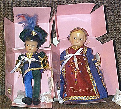 EFF0525 1997 Effanbee Patsyette Romeo and Juliet Doll Set