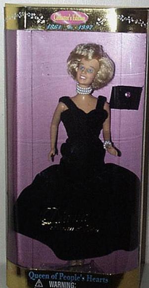 DIA0001B Street Players Princess Diana Doll in Black Formal 1997