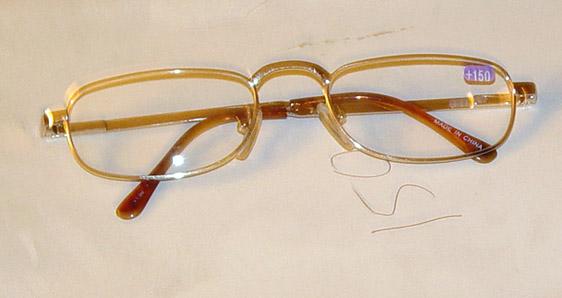 GLS0002 Reading Glasses +1.50 Power, Gold-Toned Metal Frame