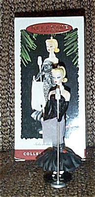 BHO9501 Solo in the Spotlight Barbie 2 Hallmark Ornament 1995