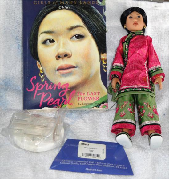 HKE0251 Kish 2002 Spring Pearl of China Doll, Book Set, American Girls