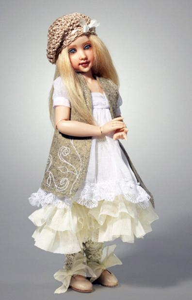 HKE0865 Kish 2014 11 in. Shabby Chic Zoe Resin BJ Doll