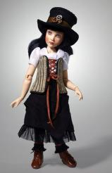 HKE0864 Kish 2014 11 in. Steampunk Paige Resin BJ Doll