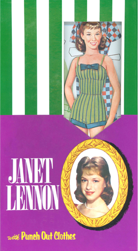 LSP0004 Janet Lennon Punch Out Boxed Paper Doll Set