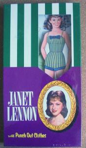 LSP0004 Janet Lennon Punch Out Boxed Paper Doll Set 1