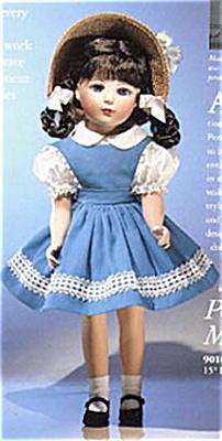 ALX1090A Madame Alexander Bisque Margaret Ann Doll in Blue 1999