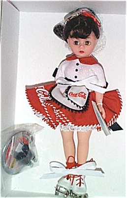 ALX2091A Madame Alexander Brunette Coca Cola Carhop Doll 2000