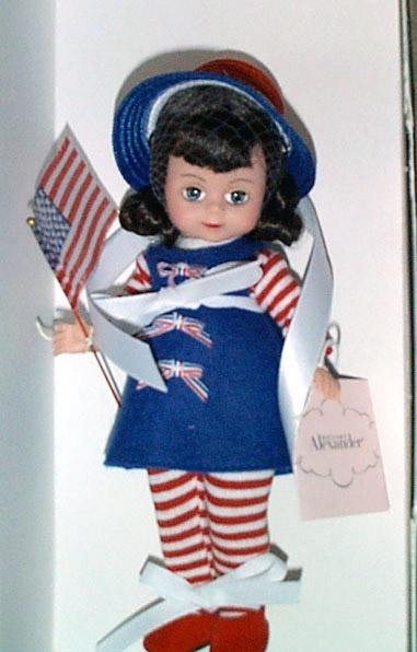 Madame Alexander 2001 Flag Wavin' Maggie Doll