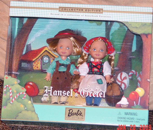 MAT0631 Mattel Kelly and Tommy Dolls as Hansel and Gretel 2000